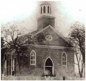 The church was organized in 1824 and is the oldest congregation in AL that has met continually.